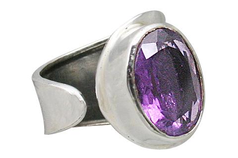 Design 11378: purple amethyst adjustable rings