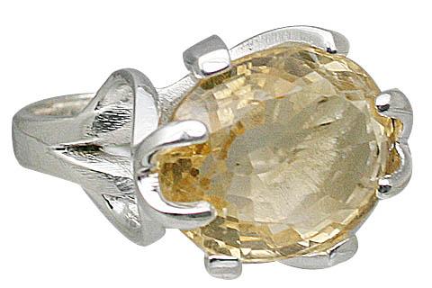 Design 11411: yellow citrine rings