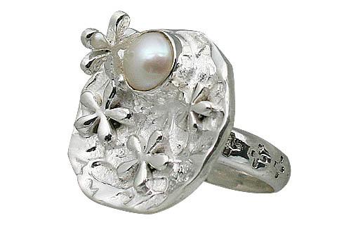 Design 11428: white pearl rings