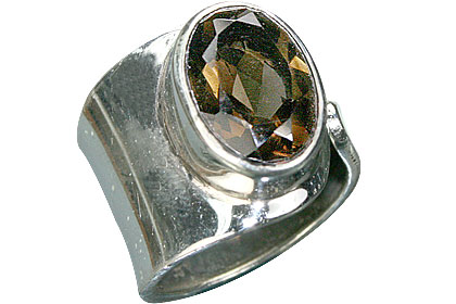Design 11447: brown smoky quartz rings