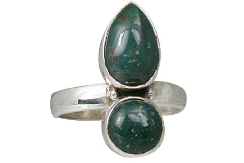 Design 11464: green,red bloodstone rings