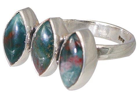 Design 11465: green,red bloodstone rings