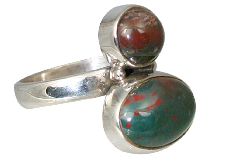 Design 11466: Green, Red bloodstone rings