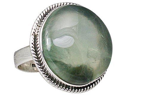 Design 11514: green prehnite rings