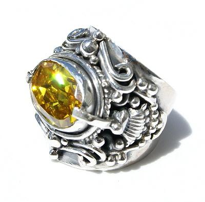 Design 11631: yellow cubic zirconia american-southwest, mens rings