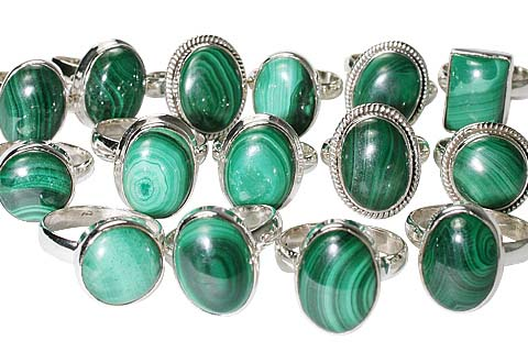 Design 11650: Green bulk lots rings
