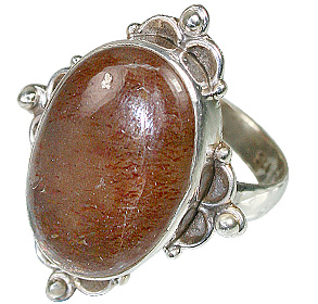 Design 11944: brown sunstone american-southwest, mens rings