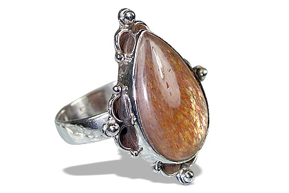 Design 11948: brown sunstone american-southwest rings