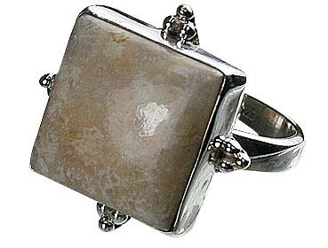 Design 11979: brown,white jasper american-southwest rings