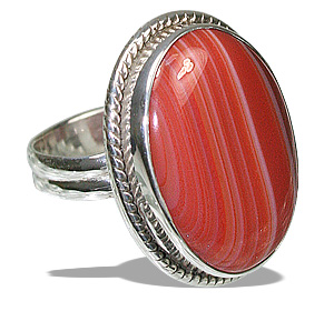 Design 11987: red,white onyx american-southwest rings