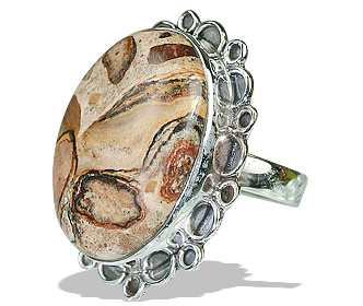 Design 12014: brown jasper american-southwest rings