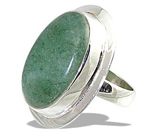 Design 12021: green aventurine american-southwest rings
