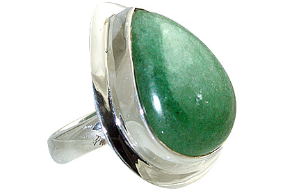 Design 12026: green aventurine american-southwest rings