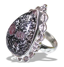Design 12038: black,gray,pink zosite american-southwest rings