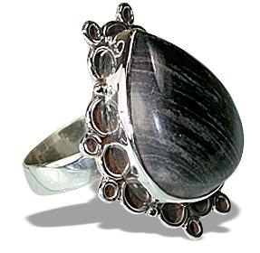 Design 12044: black,gray jasper american-southwest rings
