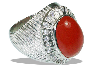 Design 12051: orange carnelian estate rings