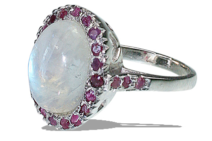Design 12058: White,Pink moonstone engagement, estate rings