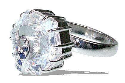 Design 12062: blue,white crystal estate rings