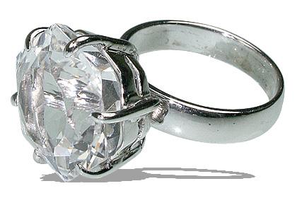 Design 12063: white crystal estate rings