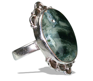 Design 12078: black,green,gray jasper american-southwest rings