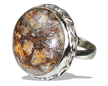 Design 12092: brown opal american-southwest rings
