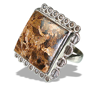 Design 12127: brown bronzite american-southwest rings