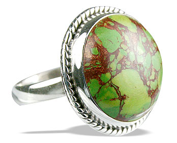 Design 12130: green,multi-color mohave american-southwest rings