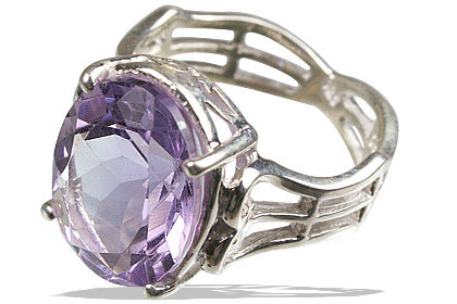 Design 12134: purple amethyst cocktail rings