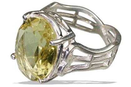 Design 12147: yellow lemon quartz mens rings