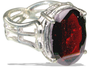 Design 12148: red garnet mens rings