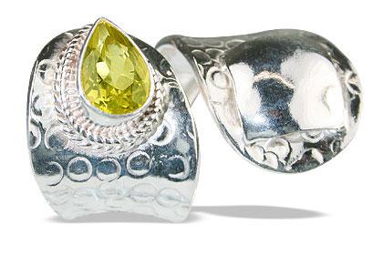 Design 12150: yellow lemon quartz adjustable rings
