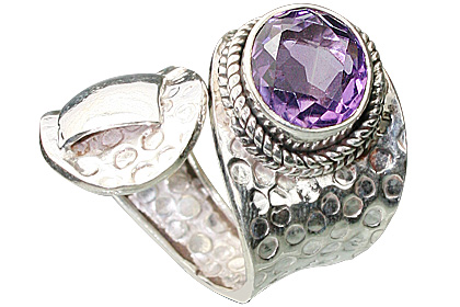 Design 12153: purple amethyst adjustable rings