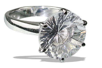 Design 12155: white crystal engagement, solitaire rings