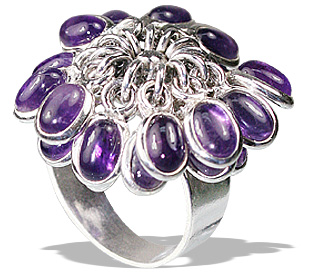 Design 12158: purple amethyst flower rings