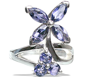 Design 12197: blue iolite brides-maids rings