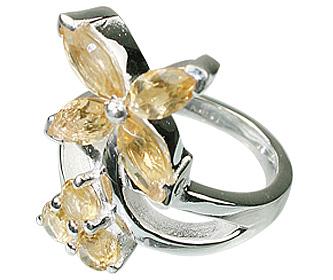 Design 12200: yellow citrine engagement, flower rings