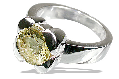 Design 12203: yellow lemon quartz solitaire rings