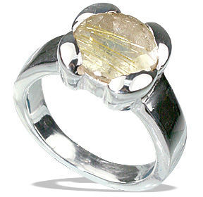 Design 12205: yellow golden rutile rings