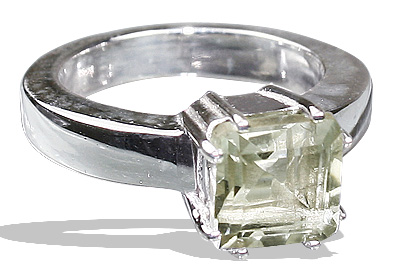 Design 12208: green green amethyst brides-maids rings