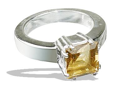 Design 12209: yellow citrine rings