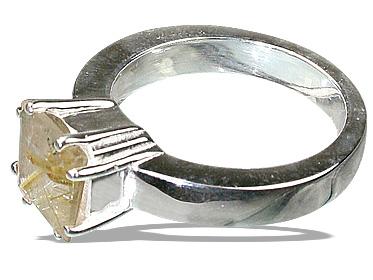 Design 12210: yellow golden rutile rings