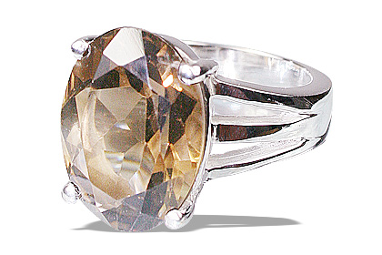 Design 12219: brown smoky quartz rings