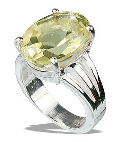 Design 12222: yellow lemon quartz mens rings