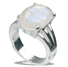 Design 12225: blue,white moonstone staff-picks rings