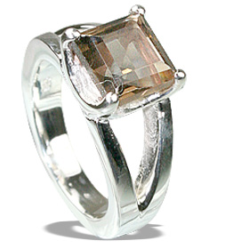 Design 12228: brown smoky quartz art-deco rings
