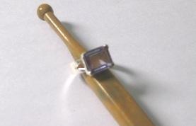 Design 12238: green green amethyst art-deco rings
