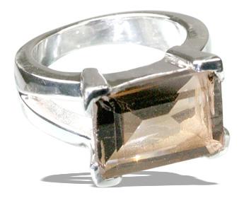 Design 12239: brown smoky quartz art-deco rings