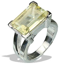 Design 12240: yellow lemon quartz art-deco rings