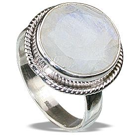 Design 12272: white moonstone mens rings