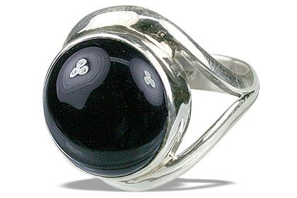 Design 12275: black onyx rings